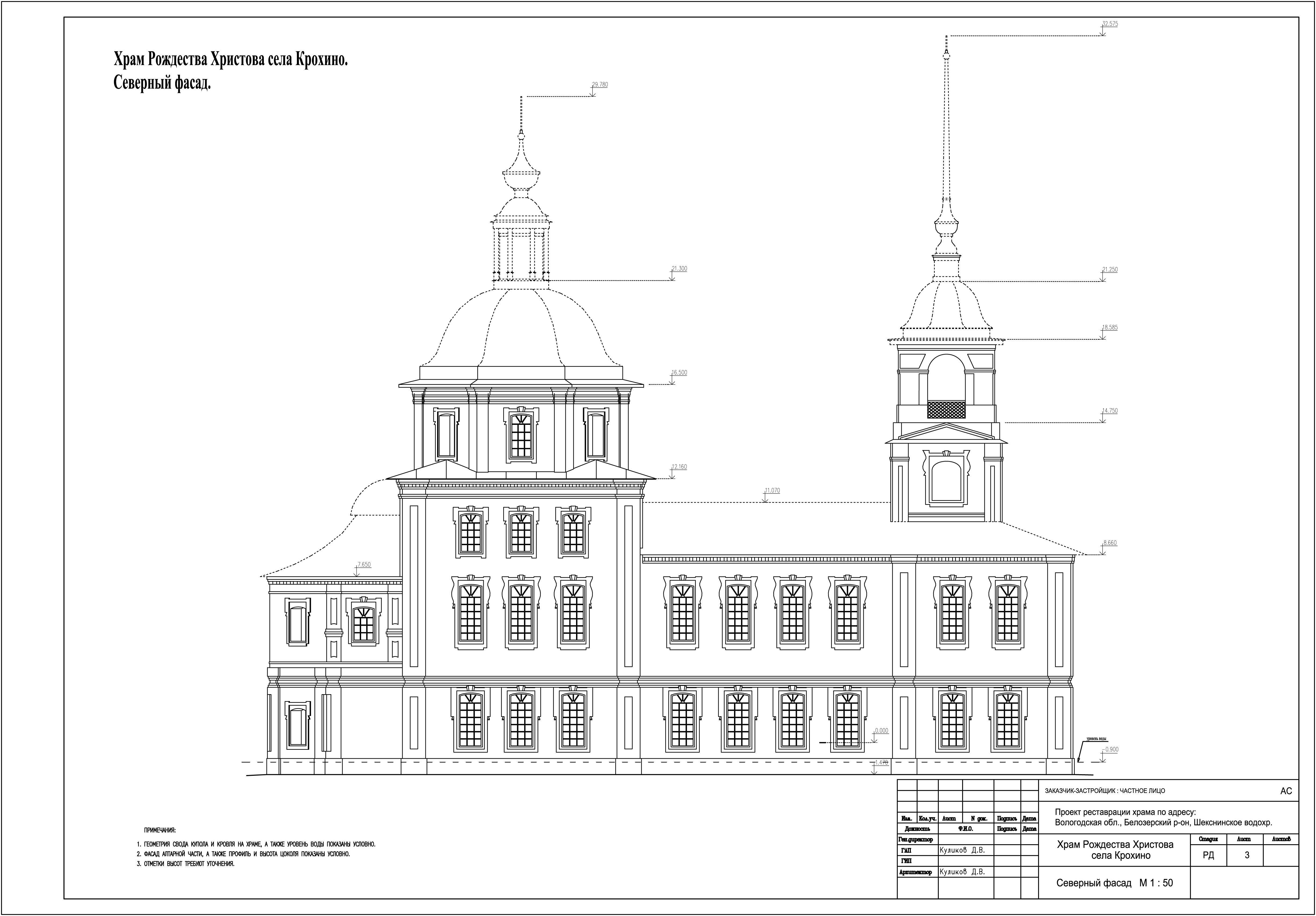 фасад храма схема